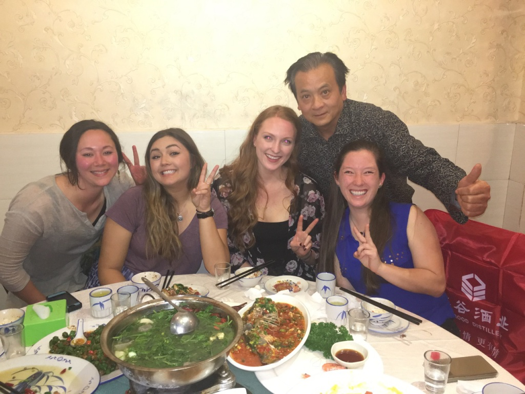 Us interns and Mr. Cheng. He doesn't speak much English but he's one spicy character.